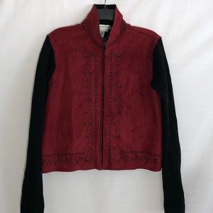 Coldwater Creek faux suede jacket